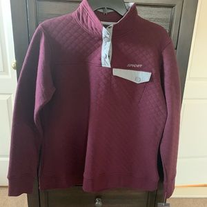 NWT Spyder Quilted Pullover XL